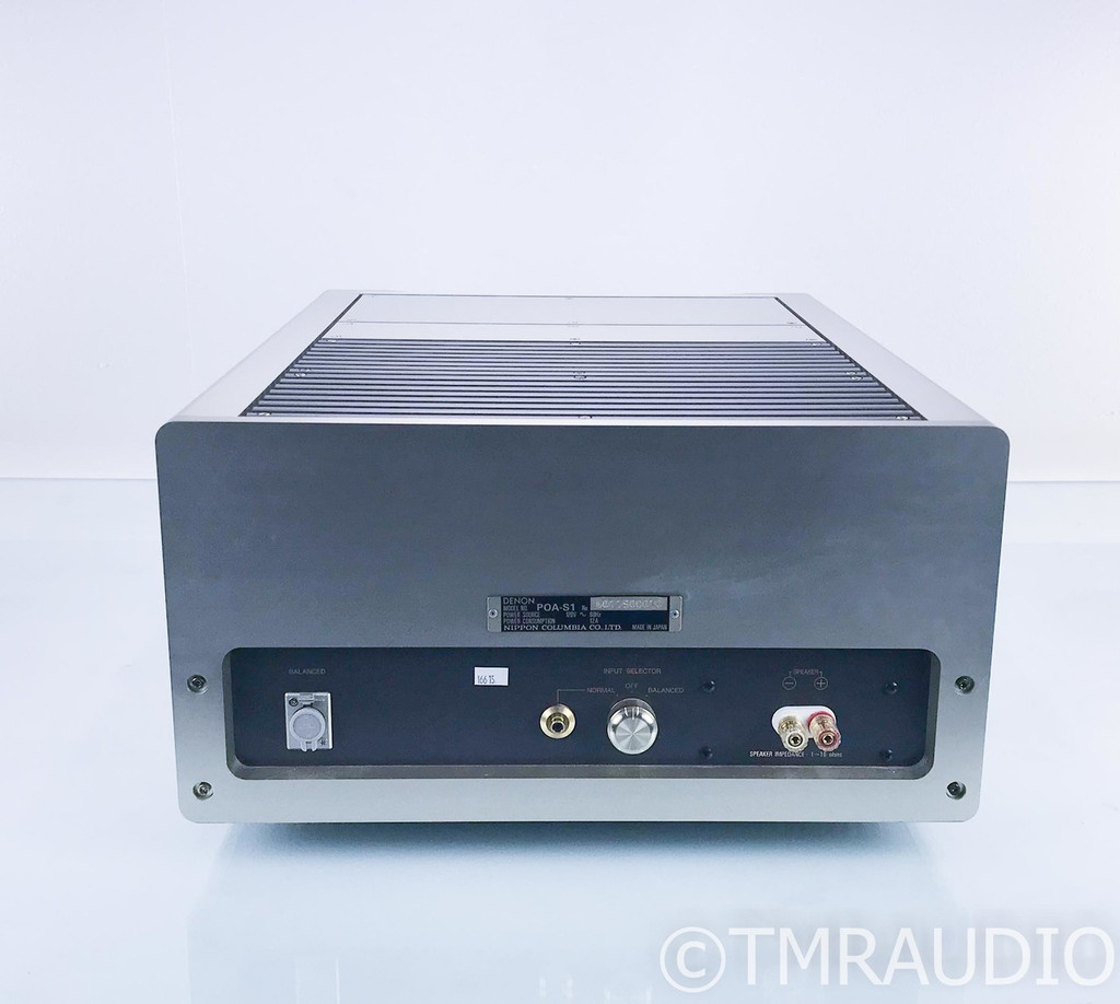 Denon POA-S1 Mono Power Amplifier; POAS1; Single