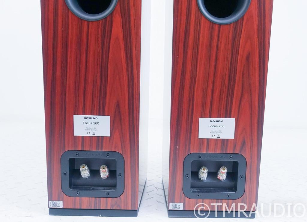 Dynaudio Focus 260 Floorstanding Speakers; Rosewood Pair
