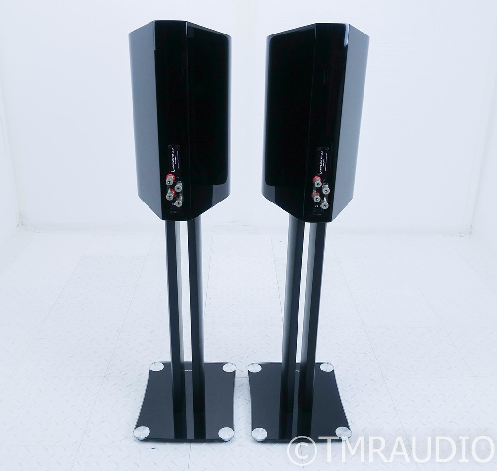 Sonus Faber Venere 2.0 Bookshelf Speakers w/ Stands; Gloss Black Pair