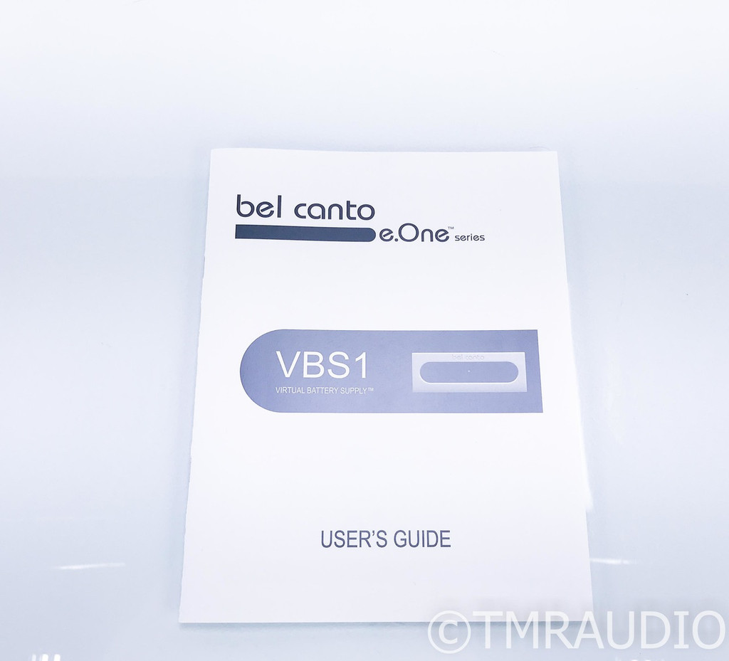 Bel Canto VBS1 Power Supply; Virtual Battery Supply; VBS-1
