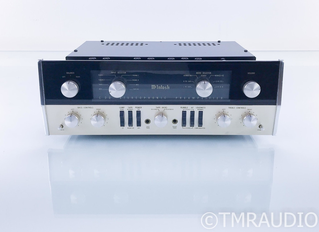 McIntosh C22 Vintage Stereo Tube Preamplifier; Updated/Restored