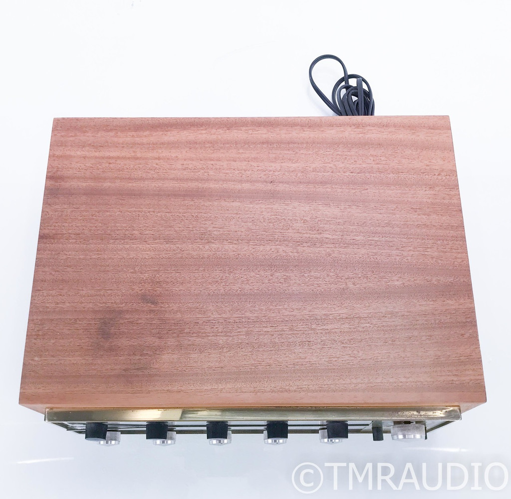 McIntosh C20 Vintage Tube Stereo Preamplifier; C-20 w/ Walnut Cabinet