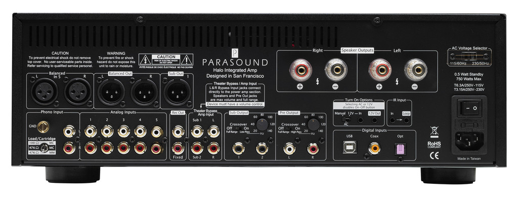 Parasound Halo Integrated 2.1 Channel Integrated Amplifier; (New)