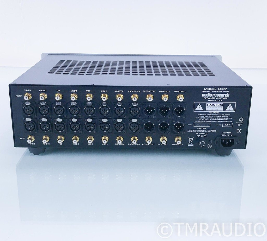 Audio Research LS27 Stereo Tube Preamplifier; LS-27; Remote (1/4)