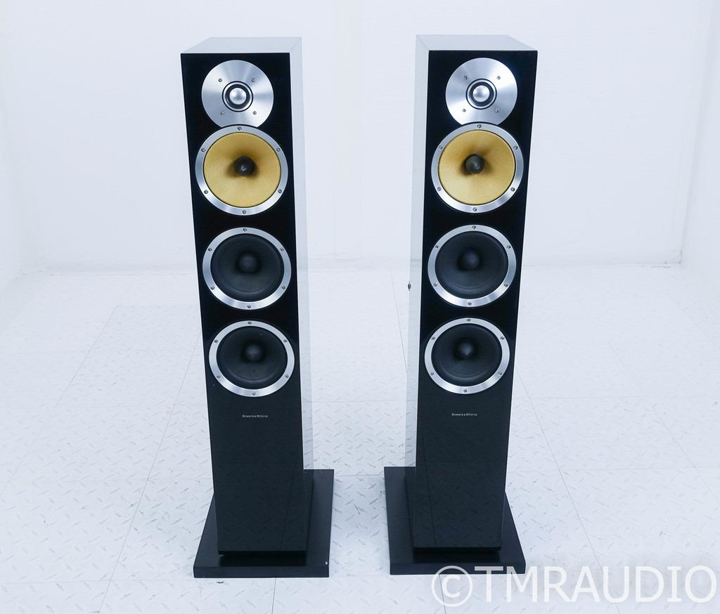 B&W CM8 Floorstanding Speakers; Gloss Black Pair