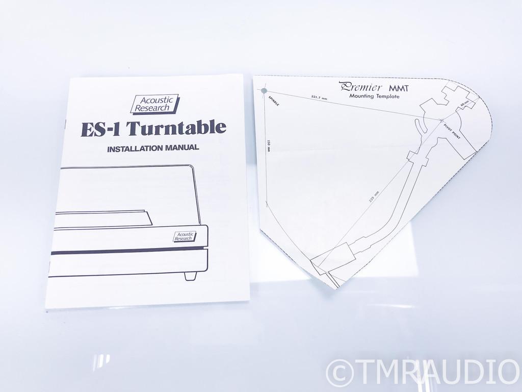 Acoustic Research ES-1 Turntable; Sumiko Premier MMT; Shure V15 Type V-MR