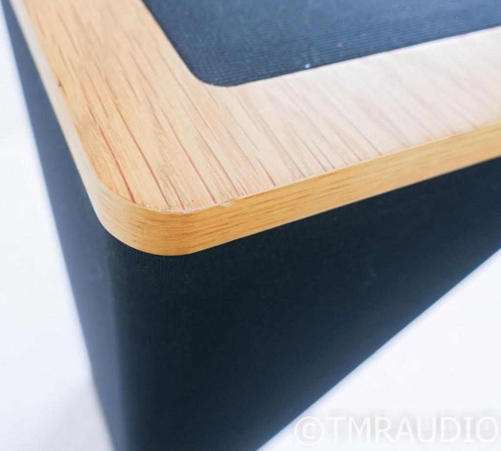 Vandersteen 1B Vintage Floorstanding Speakers; Oak/Black Pair w/ Stands