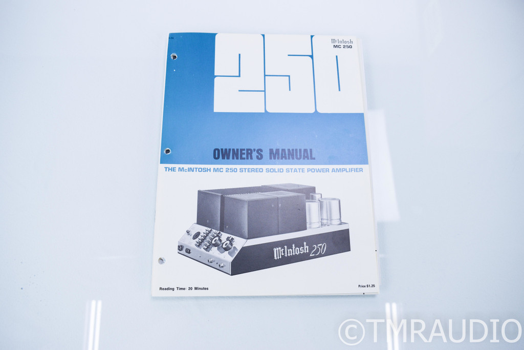 McIntosh MC 250 Vintage Stereo Power Amplifier; MC250; Refurbished/Re-capped