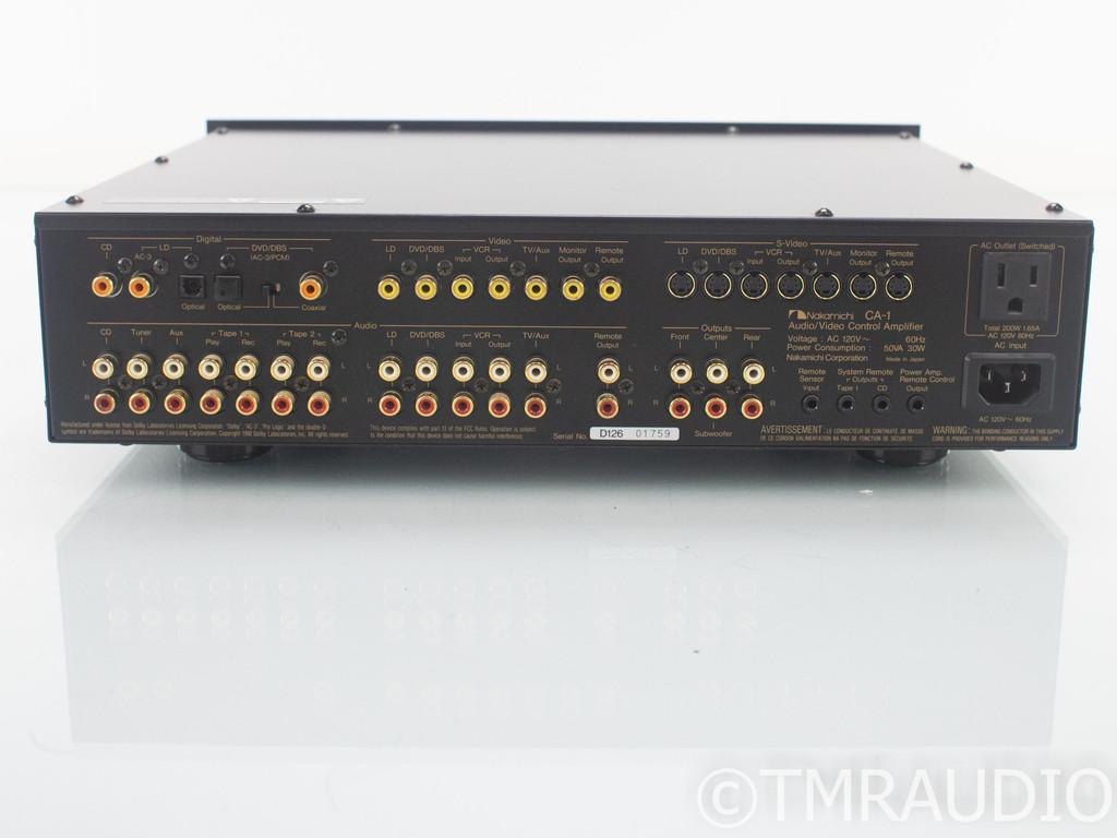 Nakamichi CA-1 5.1 Channel Home Theater Processor; CA1; Remote