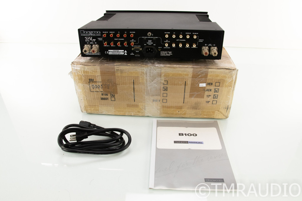 Bryston B100-SST Stereo Integrated Amplifier; B100SST (No Remote)