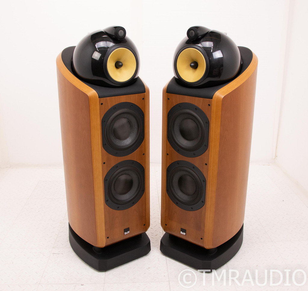 B&W 802D Floorstanding Speakers; Cherry Pair; 802-D