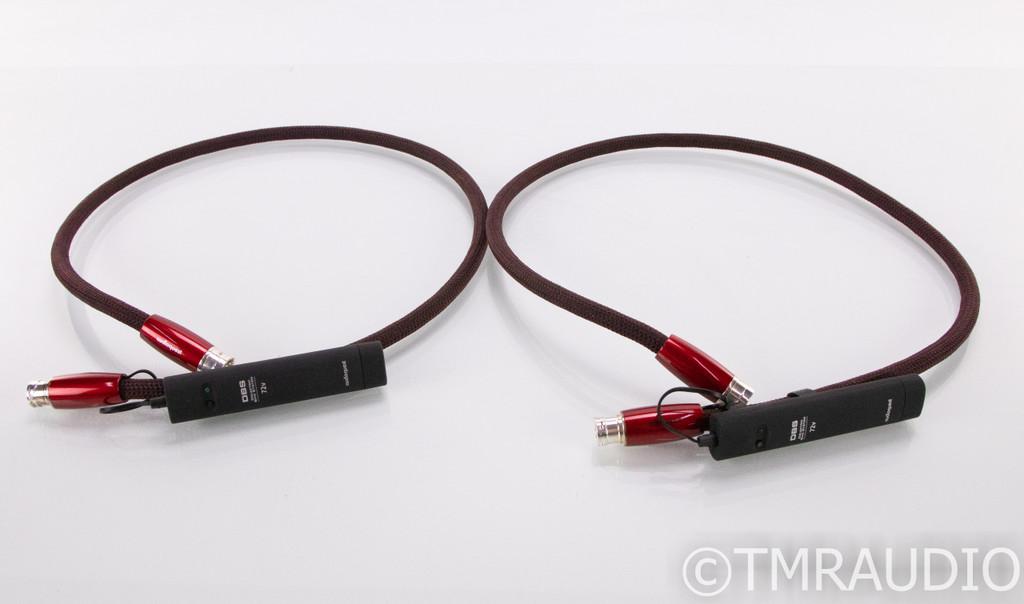 Audioquest Fire XLR Cables; 1m Pair Balanced Interconnects; 72v DBS