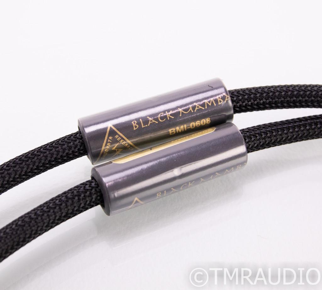 Shunyata Black Mamba XLR Cables; 1m Pair Balanced Interconnects (SOLD)