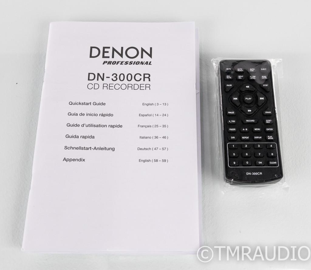 Denon DN-300CR CD Recorder; DN300CR; Remote