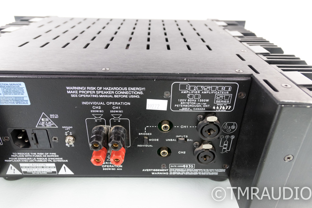 Bryston 4B-ST Stereo Power Amplifier; 4BST