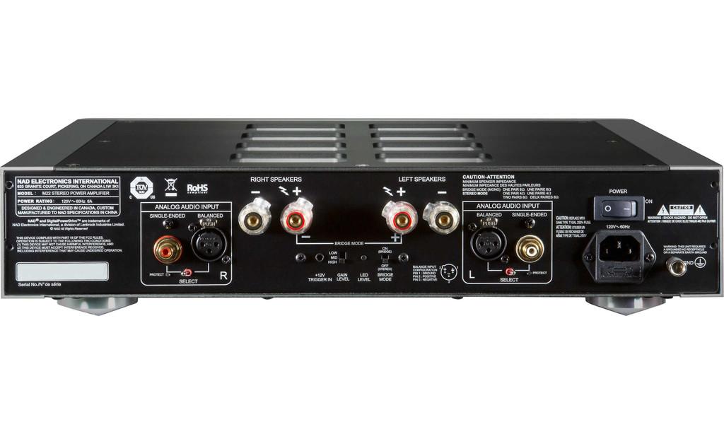 NAD M22 V2 Master Series Stereo Power Amplifier; M22v2 (New)