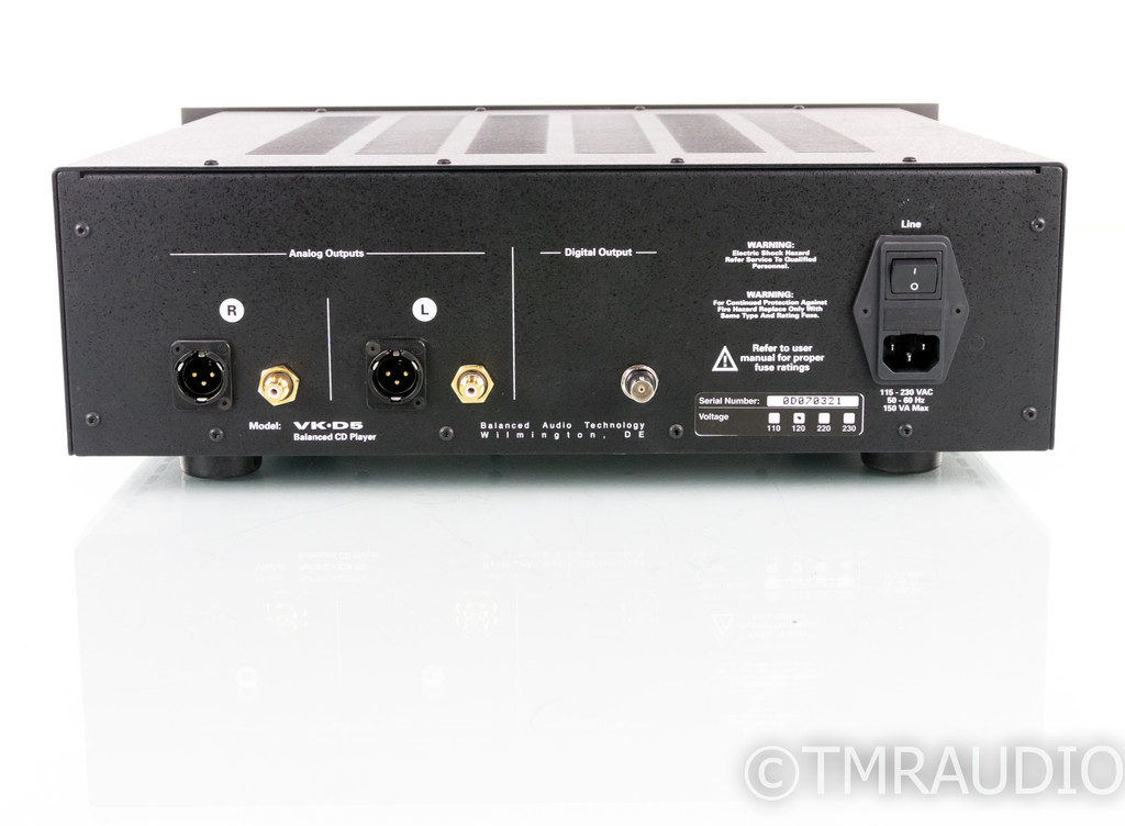 Balanced Audio Technology VK-D5 Tube CD / HDCD Player; VKD5 (No Remote)