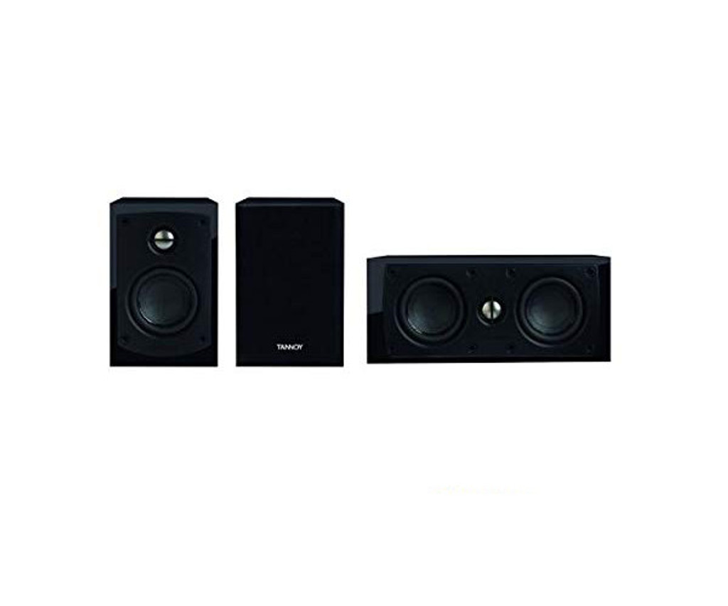 Tannoy HTS 3.0 Speaker System; Gloss Black Center Channel w/ Satellite Pair (New)