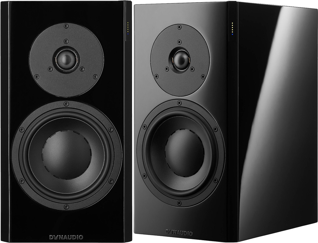 Dynaudio Focus 20 XD Powered Speakers; High Gloss Black Pair w/ Stands (New)