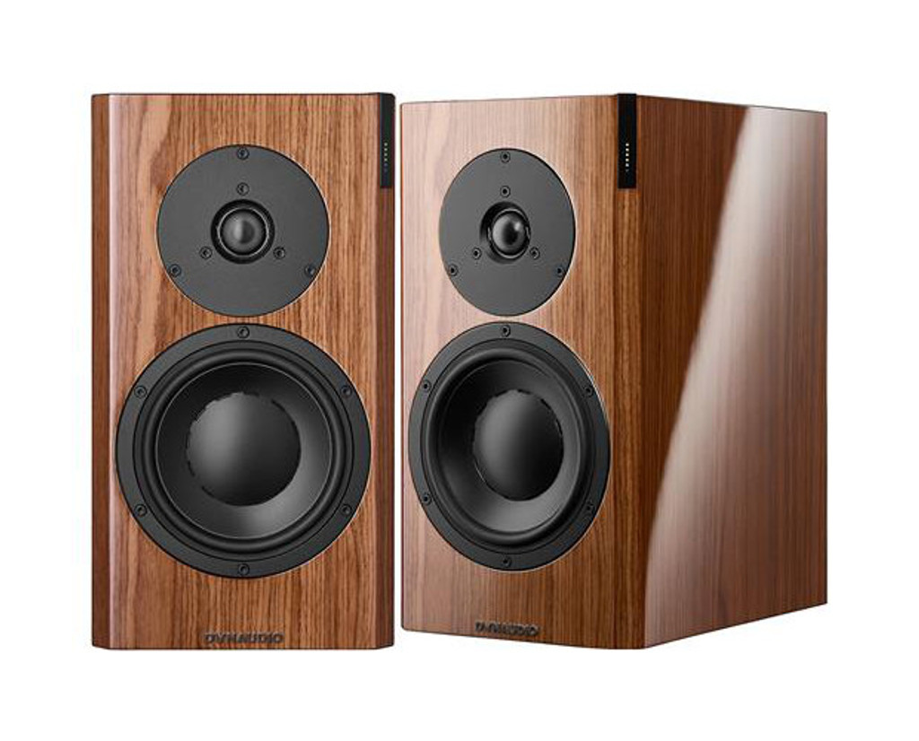 Dynaudio Focus 20 XD Powered Speakers; High Gloss Walnut Pair w/ Stands (New)