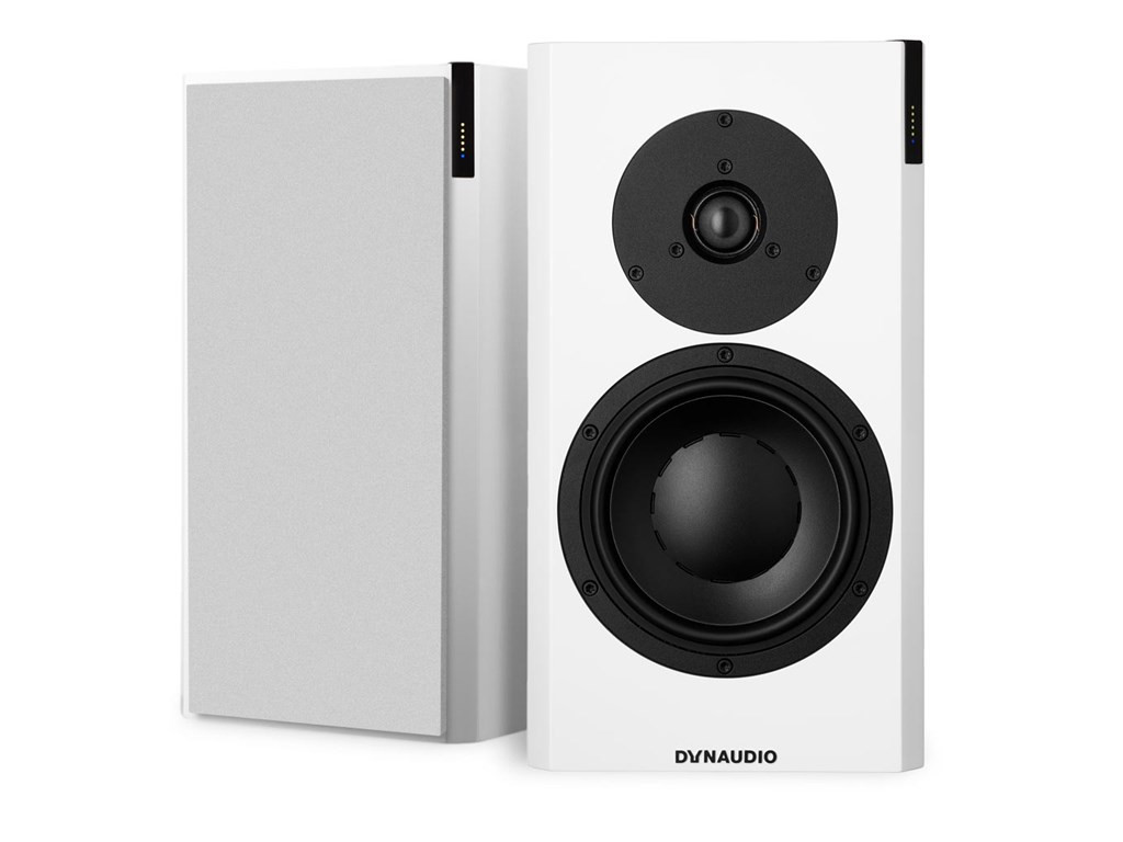Dynaudio Focus 20 XD Powered Speakers; Satin White Pair w/ Stands (New)
