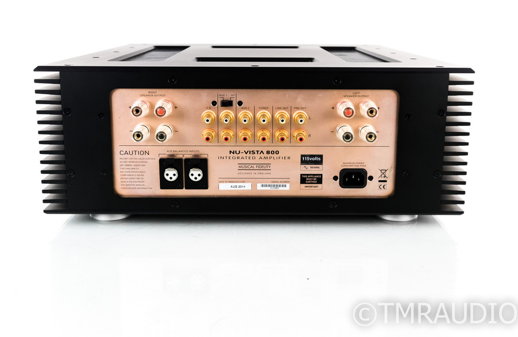 Musical Fidelity Nu-Vista 800 Tube Hybrid Integrated Amplifier; Remote