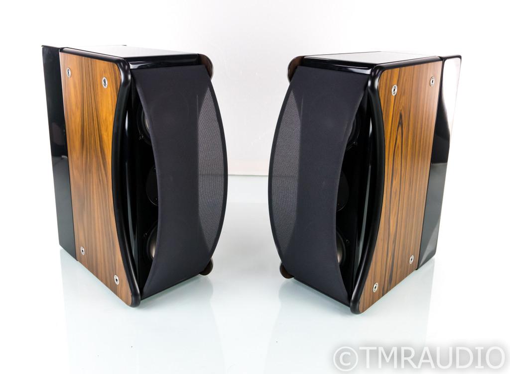 Revel Ultima Gem Bookshelf Speakers; Gloss Black Pair w/ Rosewood Sides