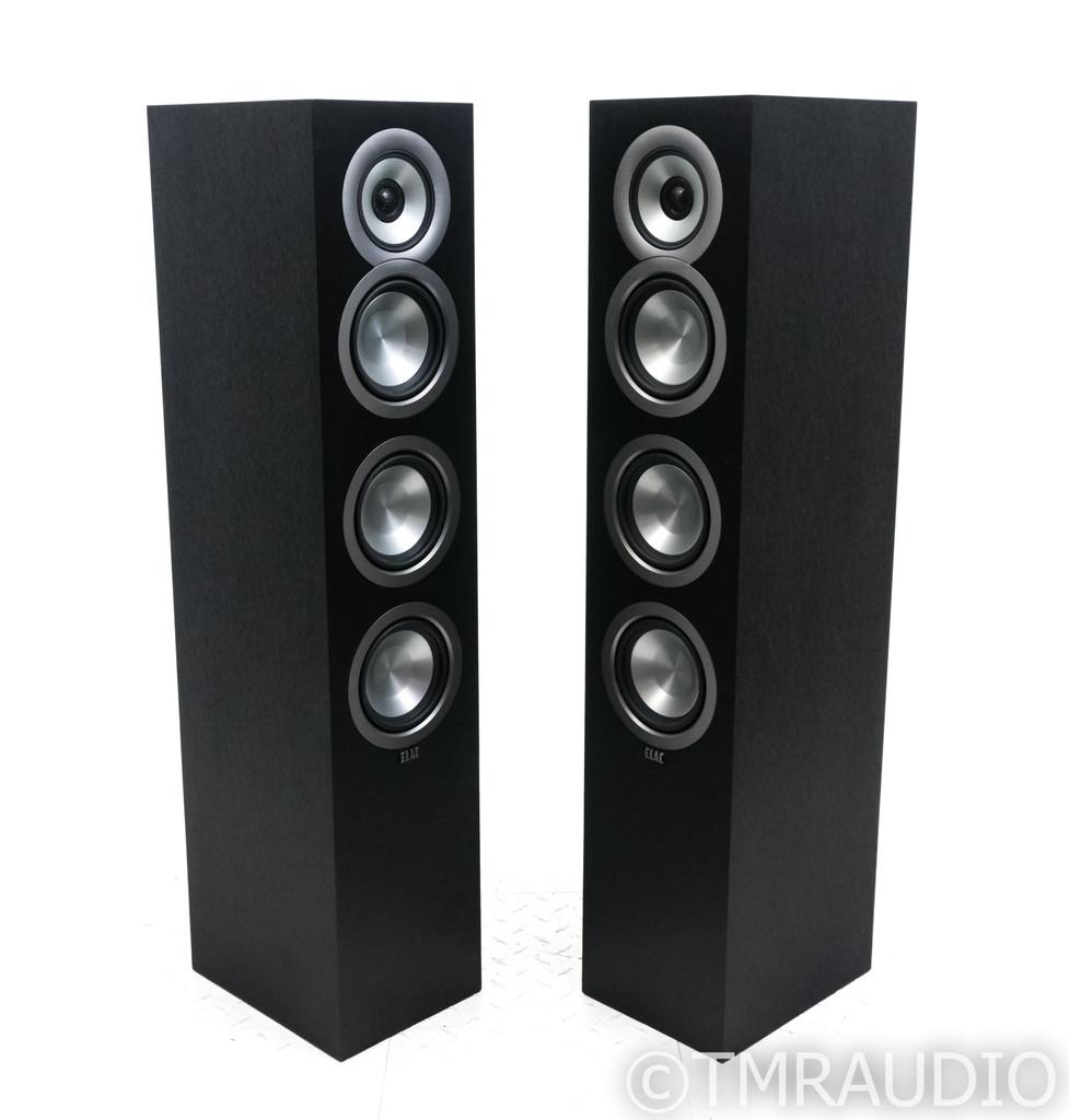ELAC Uni-Fi UF5 Floorstanding Speakers; Black Pair