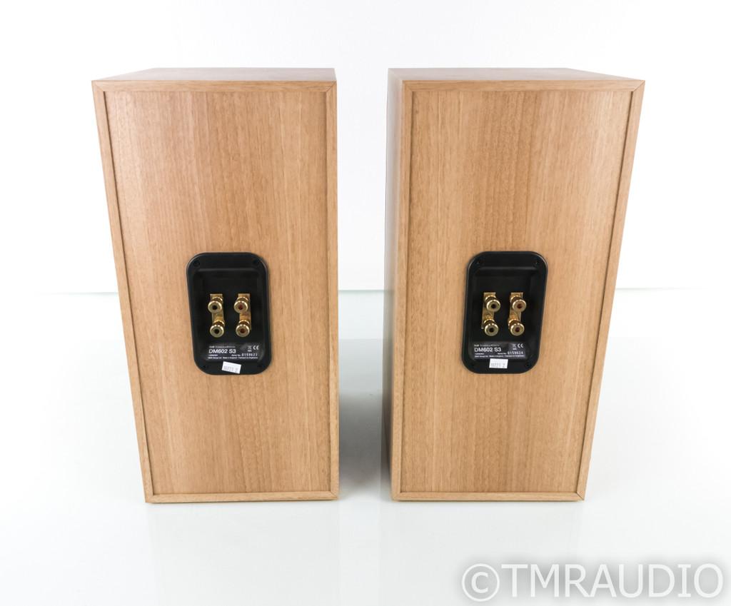 B&W DM602 S3 Bookshelf Speakers; Oak Sorrento Pair