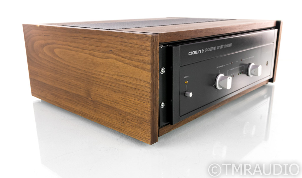 Crown Power Line Three Stereo Power Amplifier; Walnut Cabinet