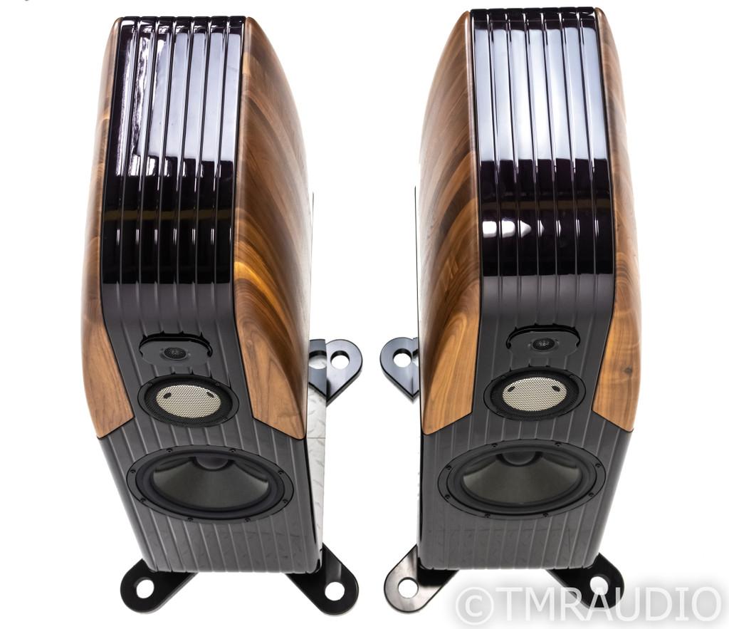 Kharma Exquisite Reference 1D-DE Speakers; Aubergine/Walnut Pair; Enigma Cabling