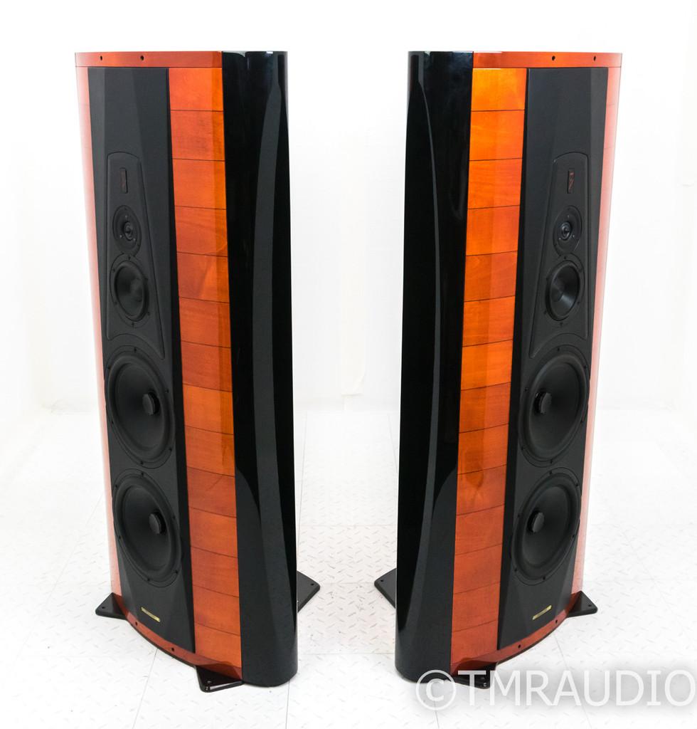 Sonus Faber Stradivari Homage Speakers; Rosso Violino Pair; Very Low Hours