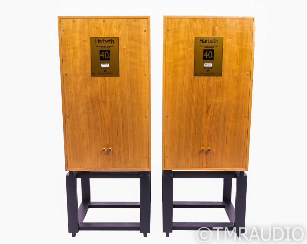 Harbeth 40.2 Monitor Speakers; Cherry Pair w/ TonTrager Stands; RMAF Demo