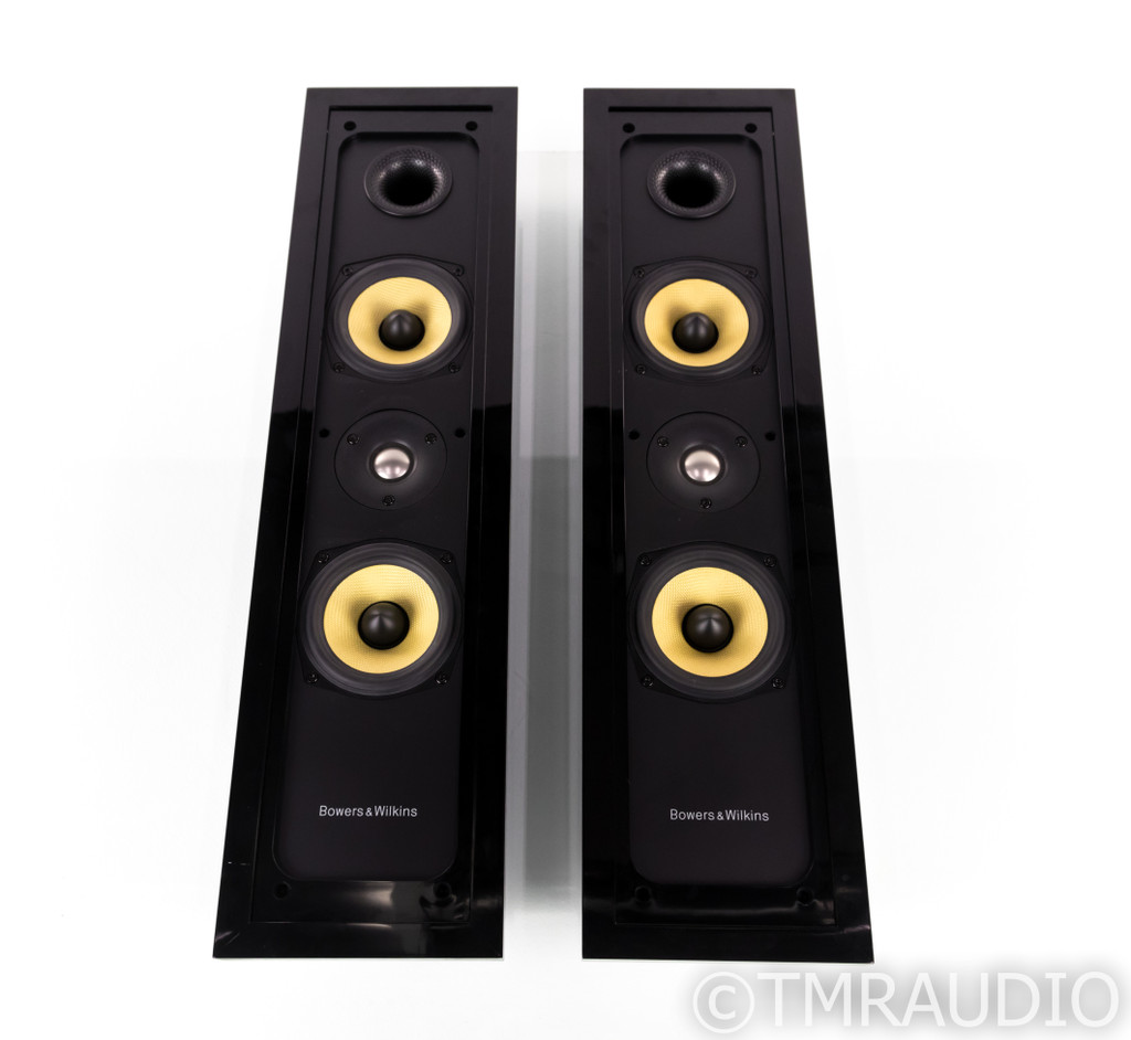 B&W FPM5 LCR On-Wall Speakers; Black & Silver Pair; FPM-5