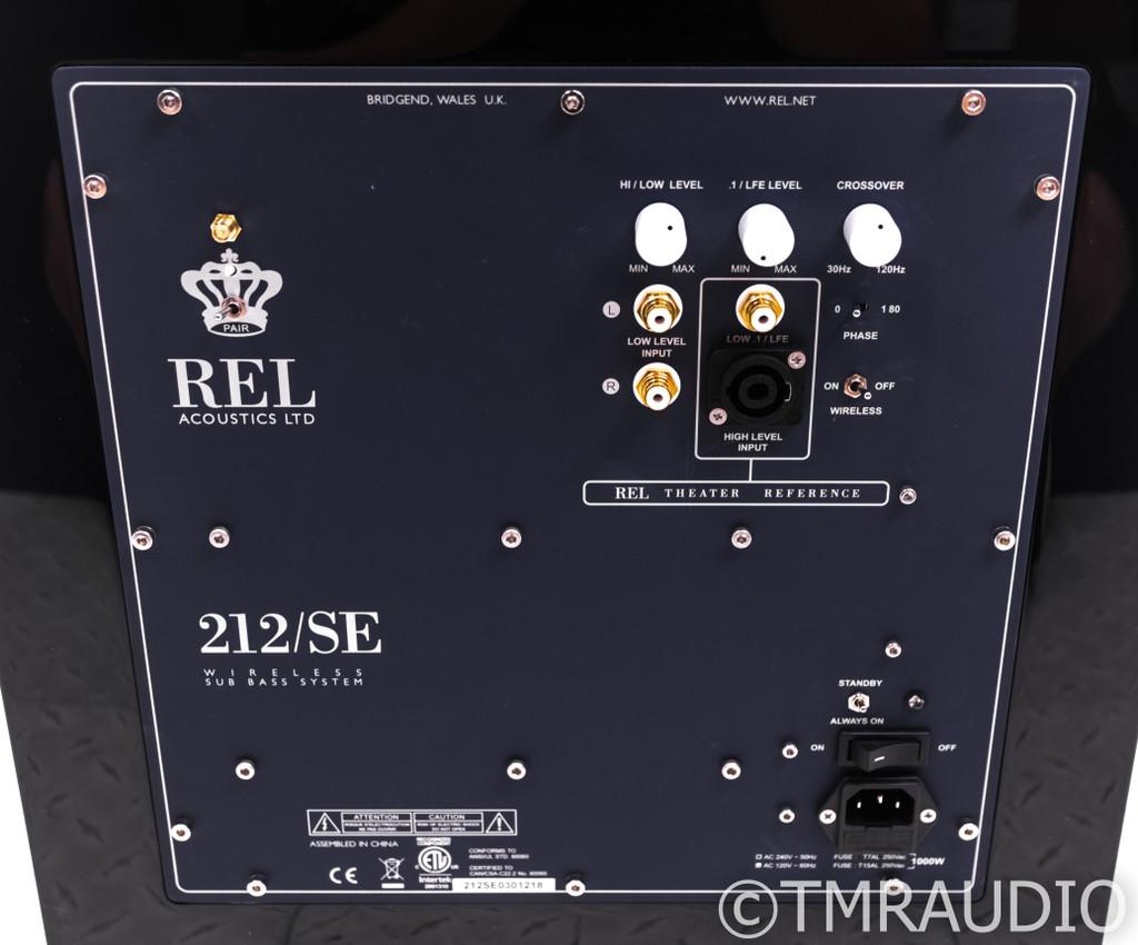 """Rel 212/SE Dual 12"""" Powered Subwoofer; Gloss Black; 212-SE"""
