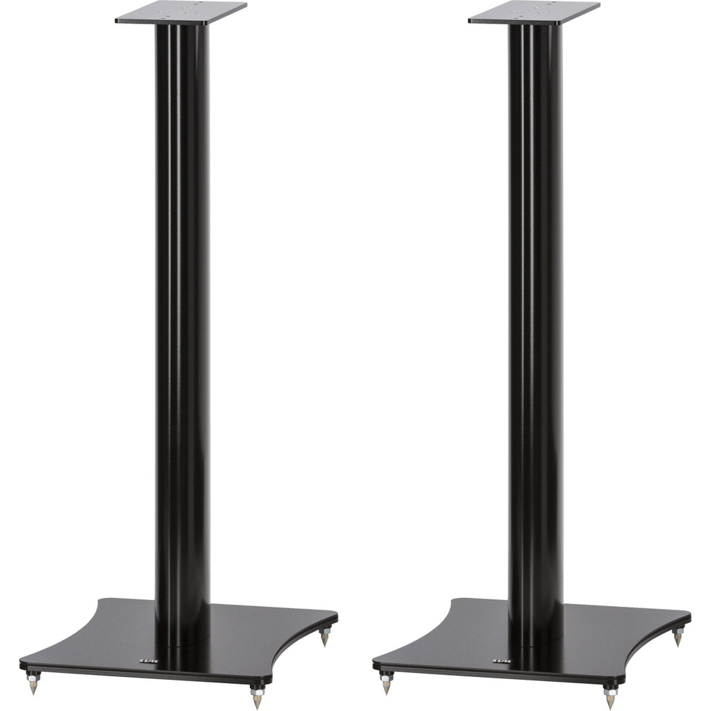 ELAC LS 30 Speaker Stands; High Gloss Black Lacquer Pair