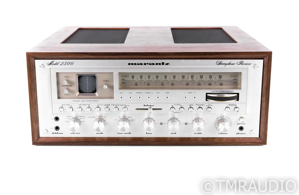 Marantz Model 2500 Vintage Stereo Receiver; MM Phono; Restored; w/ Wood Case