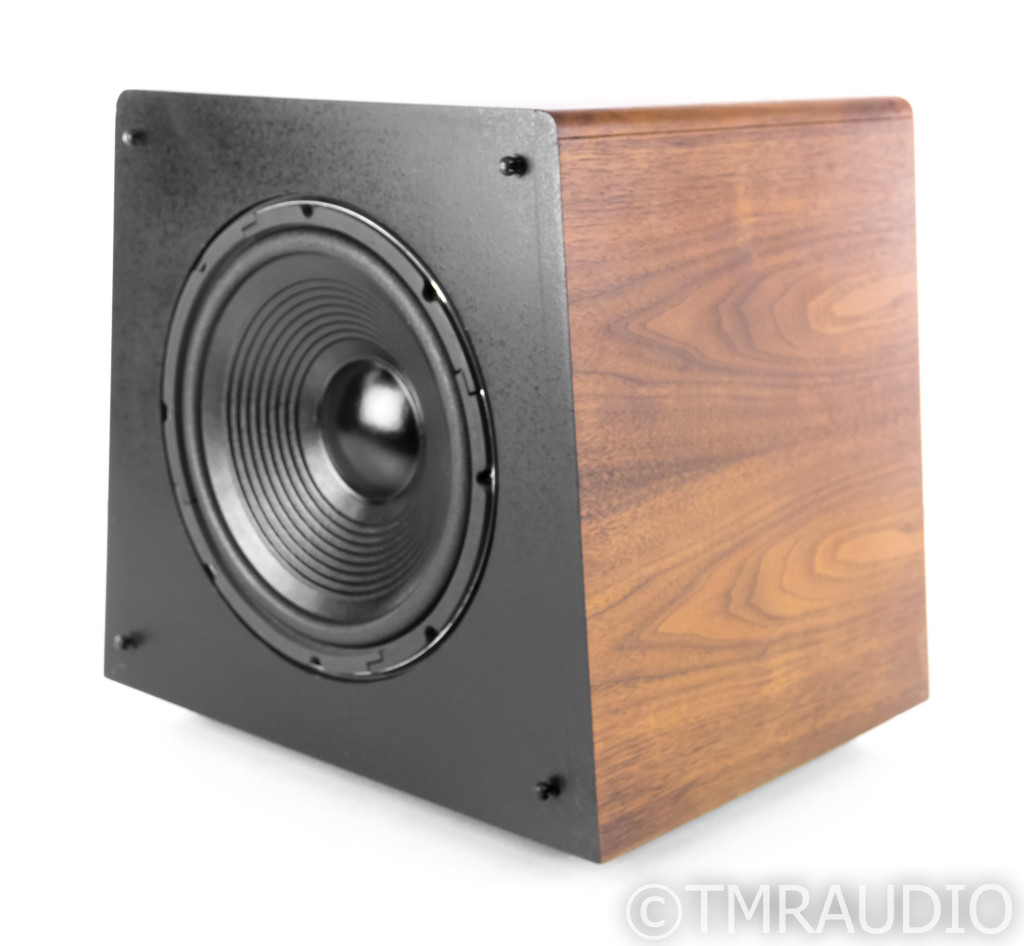 "M&K Sound V-1B Vintage 12"" Powered Subwoofer; Walnut; V1B (Volkswoofer)"
