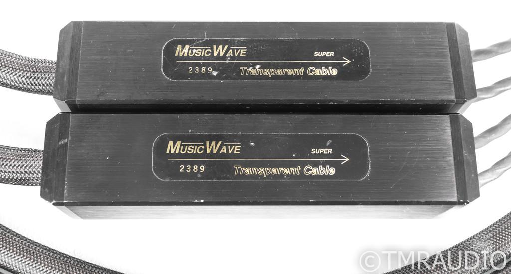 Transparent Audio MusicWave Super Speaker Cable; 10ft Pair