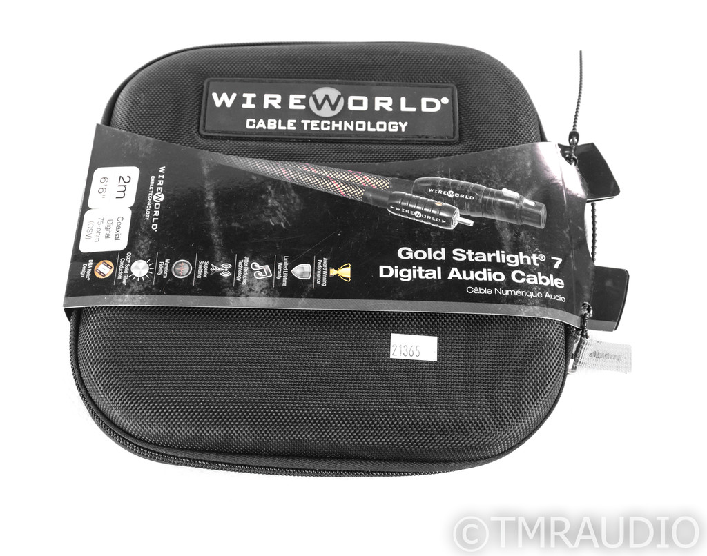 WireWorld Gold Starlight 7 RCA Coaxial Cable; 2m Digital Interconnect (New)