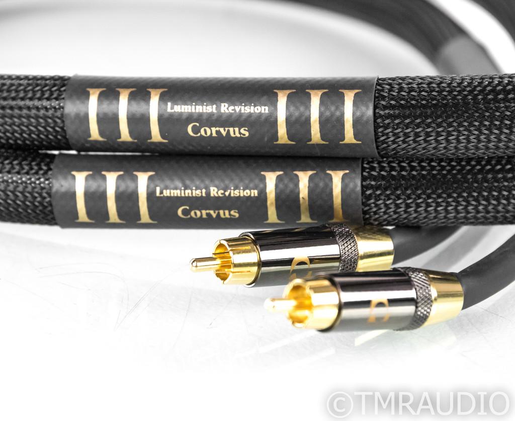 Purist Audio Design Corvus RCA Cables; 1.5m Pair Interconnects; Luminist Rev. (SOLD)