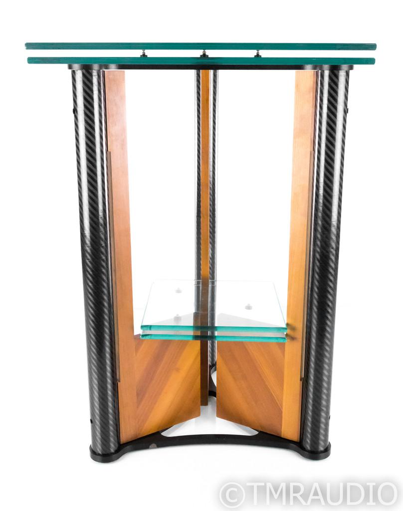 """Wilson Benesch Triptych 27"""" Turntable Stand; Glass; Carbon Fiber - RARE"""