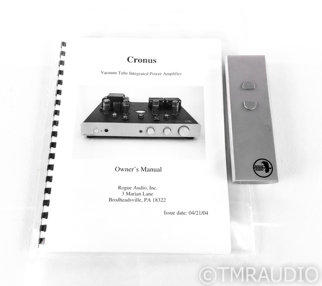 Rogue Audio Cronus Magnum Stereo Integrated Tube Amplifier; MM Phono; Remote