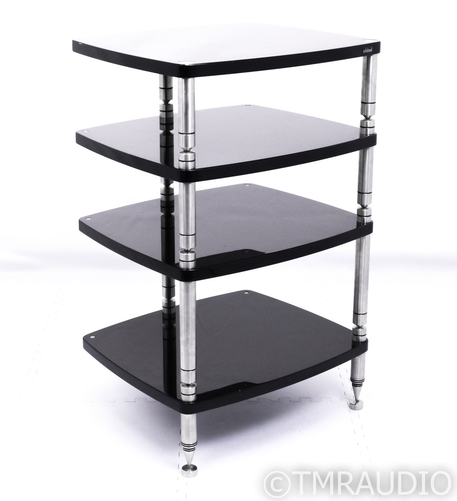 Solidsteel HyperSpike HS-4 Four Shelf Isolation Rack; Component Stand; HS4