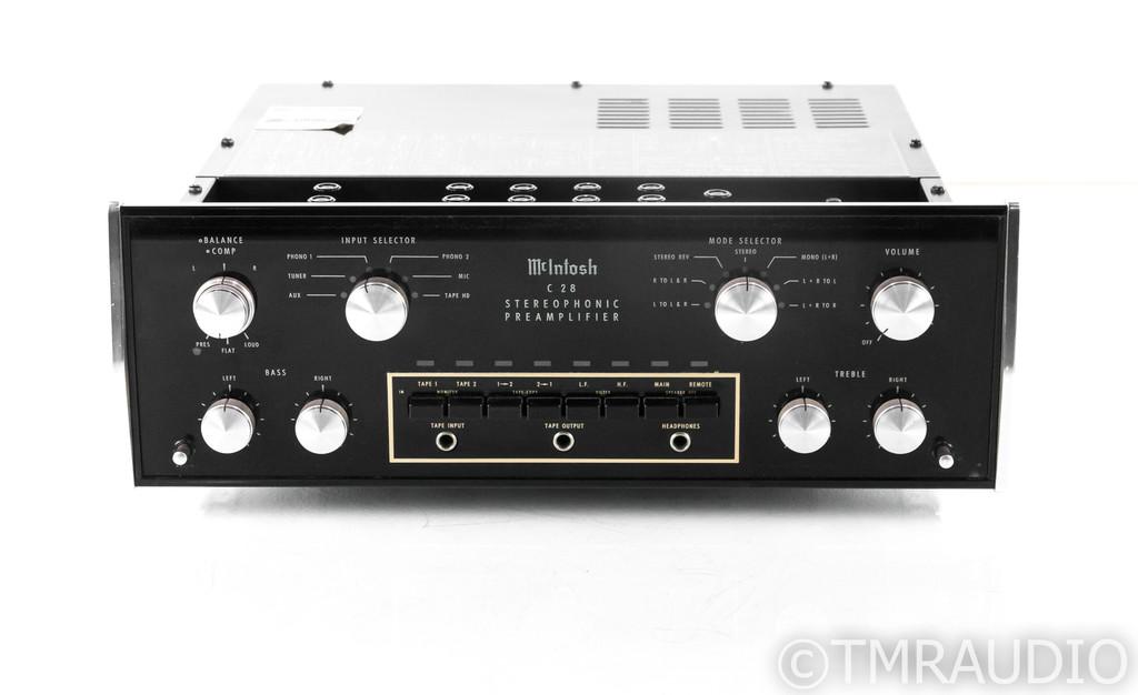 McIntosh C28 Vintage Stereo Preamplifier; C-28 w/ Walnut Cabinet