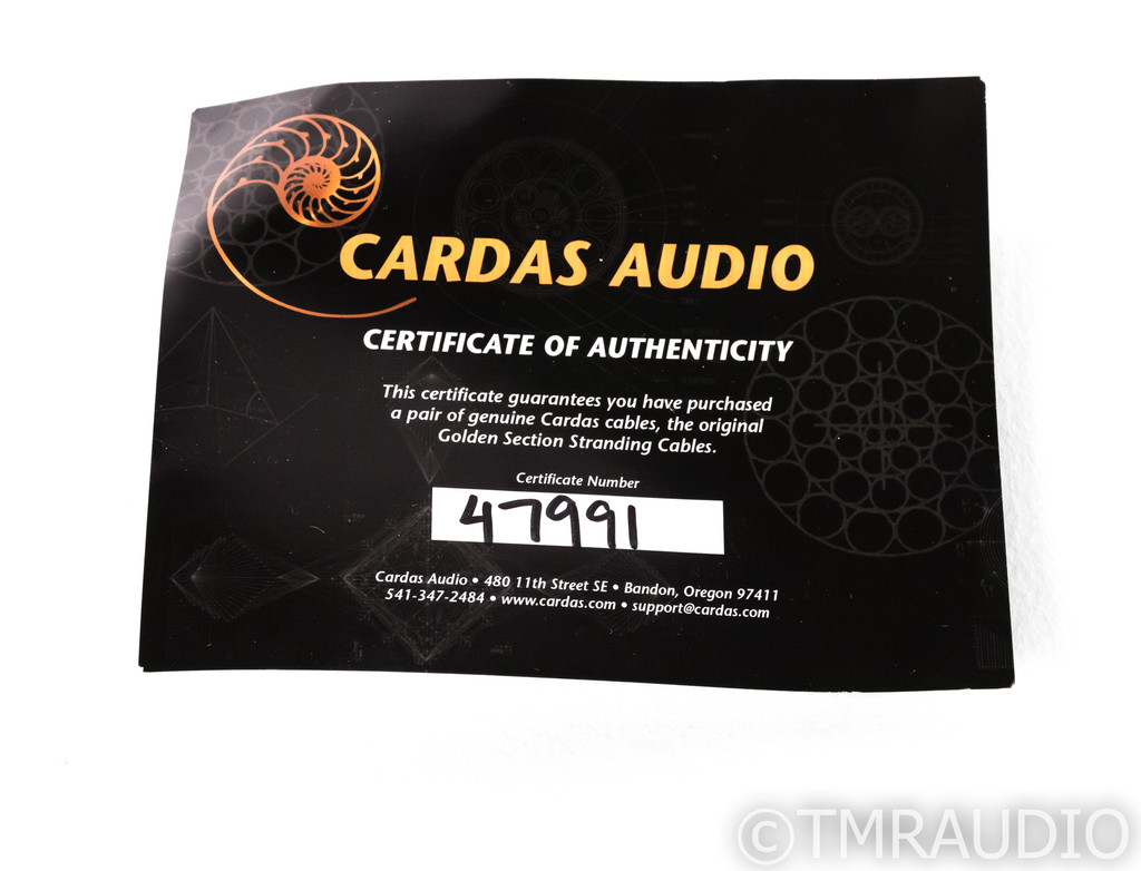 Cardas Golden Reference Speaker Cables; 10ft Pair