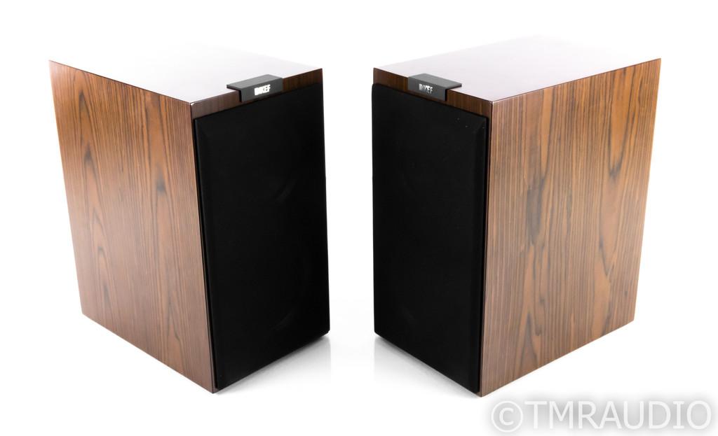 KEF R300 Bookshelf Speakers; Walnut Pair; R-300
