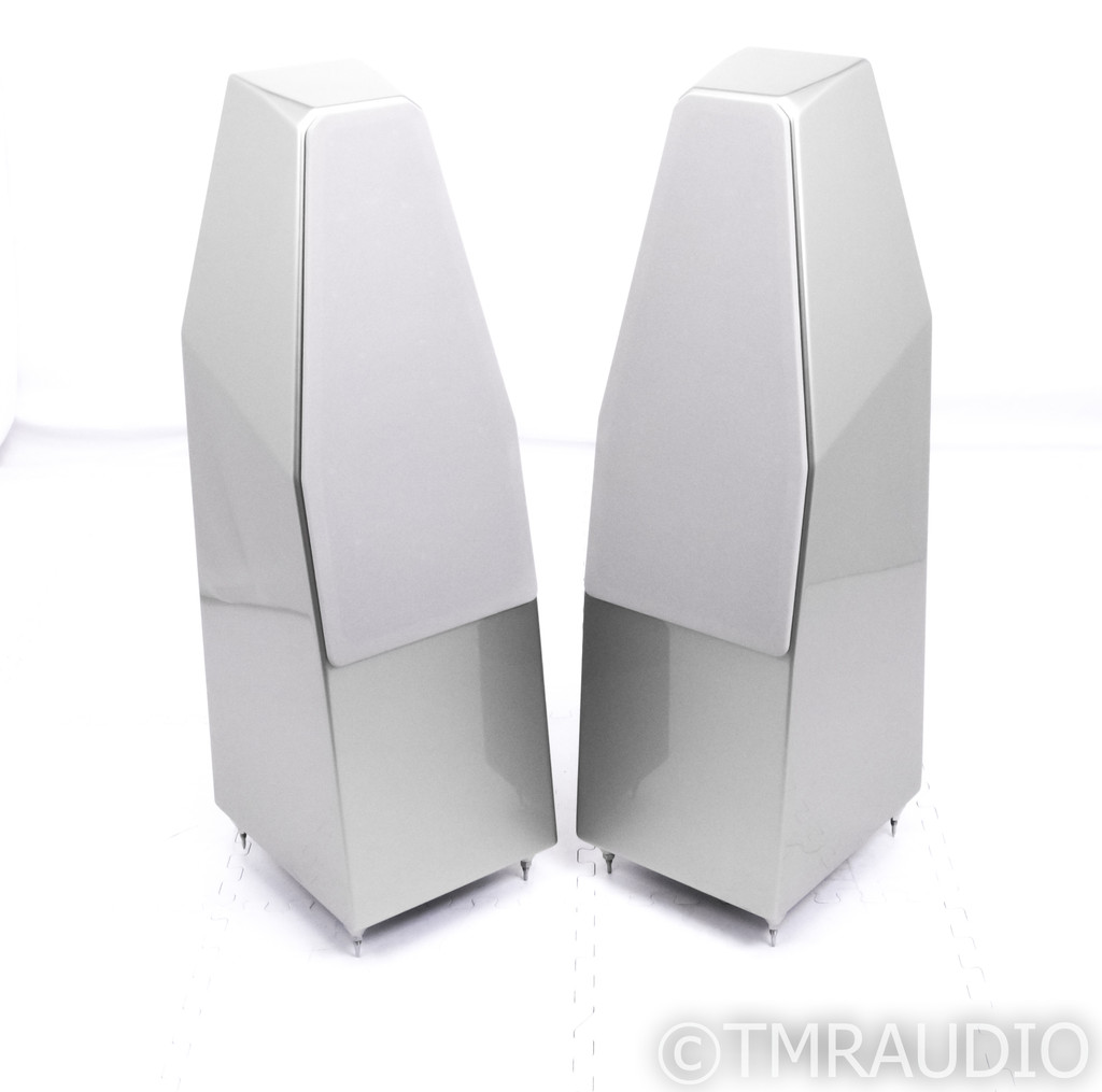 Wilson Audio Sabrina Floorstanding Speakers; Excellent Desert Silver Pair