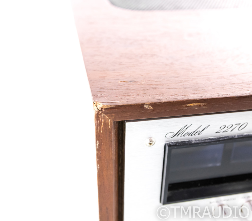 Marantz Model 2270 Vintage AM / FM Receiver; Walnut Cabinet; Re-capped