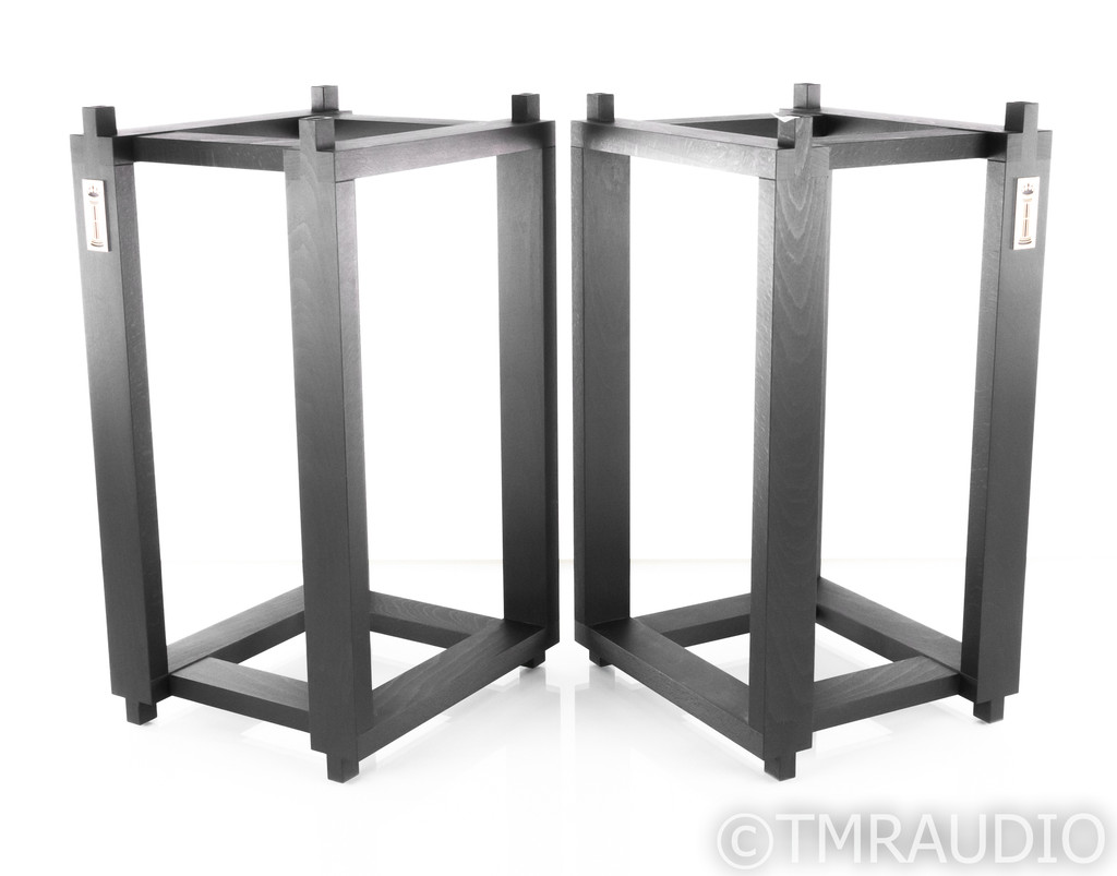 Ton Trager Compact 7 Reference Speaker Stands for Harbeth; Beech Black Pair